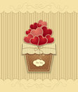 Hearts In Basket  Made From  Texture Paper On Beige Background Stock Images - 83245654