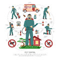 Pest Control Services Flat Infographic Poster Royalty Free Stock Images - 83248589