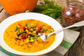 Spicy Vegetable Cream Soup With Vegetables Royalty Free Stock Photography - 83265437