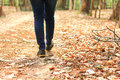 Female Walking On Path Royalty Free Stock Photography - 83276847