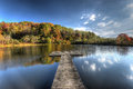 Lake And Dock In Blue-Ridge Mountain Stock Photo - 83287520
