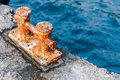 Rusty Metal Shore-fast Stock Photography - 83288182