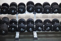 Black Barbells At The Gym Royalty Free Stock Photo - 83292955