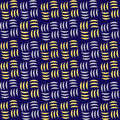 Seamless Abstract Modern Pattern. Geometric Repeating Vector Ornament With Violet And Yellow Lines. Stock Image - 83301841