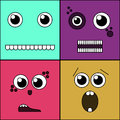 Monster Faces Vector Illustration Royalty Free Stock Photos - 83325758