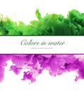 Acrylic Colors And Ink In Water. Abstract Frame Background. Isol Stock Image - 83335151