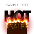 Design With Fire. Hot Sale Royalty Free Stock Photography - 83339147