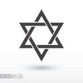 Star Of David. Star Flat Icon. Sign Star Stock Photo - 83381140