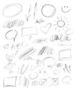 Collection Hand-drawn Pencil Elements Royalty Free Stock Photos - 83381188