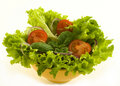 Healthy Fresh Salad On White Background Stock Images - 8342344