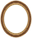 Oval Gold Picture Frame Stock Photography - 8343272