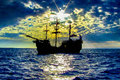 Pirate Ship Royalty Free Stock Photography - 83415747