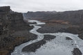 Dettifoss Waterfall In Iceland. River And Rocks Royalty Free Stock Photo - 83423515