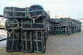 Creels Stacked In The Docks Stock Photo - 83424700