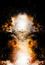 Cosmic Space And Stars, Color Cosmic Abstract Background. Fire And Sepia Effect In Space. Stock Photo - 83428010