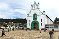 Local People In Front Of The Church Of San Juan In The Town Of San Juan Chamula, Chiapas, Mexico Royalty Free Stock Photography - 83446177