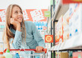 Grocery Shopping At The Supermarket Royalty Free Stock Image - 83446376