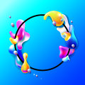 Abstract Bright Colorful Plasma Drops Shapes With A Black Circle Royalty Free Stock Photography - 83450847
