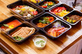 Healthy Food And Diet Concept, Restaurant Dish Delivery. Take Away Of Fitness Meal. Royalty Free Stock Images - 83457679