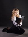 Photo Of Young Girl Reading Book Stock Photo - 83468950