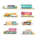 Store Buildings Set Royalty Free Stock Photo - 83470405