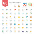 Set Of Full Color SEO And Development Icons Stock Photography - 83471112