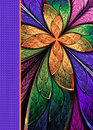 Notebook Cover With Beautiful Pattern In Fractal Design. Stock Photos - 83471443