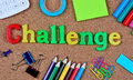 Challenge Word On Cork Royalty Free Stock Photography - 83472517