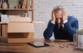 Desperate Fired Businessman Overwhelmed With Thoughts Stock Images - 83480474