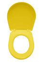 Toilet Seat Isolated - Yellow Royalty Free Stock Photo - 83494375