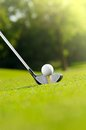 Golf Ball On Tee With Driver Stock Photography - 83499682