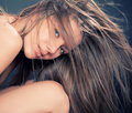 Portrait Of Attractive Girl With Fly-away Hair Stock Images - 8356614