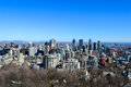 Montreal Skyline In Winter Royalty Free Stock Photography - 83502507