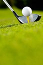 Golf Driver And Ball On Tee Royalty Free Stock Photos - 83503118
