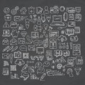 Set Of Universal Doodle Icons. Variety Of Topics. Stock Photo - 83512700