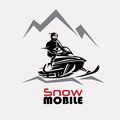 Snowmobile Logo Template Stock Photo - 83530240