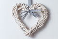 Wicker Hearts With Ribbon Royalty Free Stock Images - 83534799