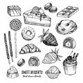 Hand Drawn Vector Illustration - Collection Of Goodies, Sweets, Stock Photos - 83546183