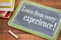 Learn From Every Experience Stock Photography - 83547032