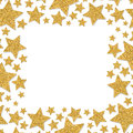 Frame With Shimmer Stars. Gold Sparkle Frame Of Star. Yellow Confetti. Stock Image - 83563771