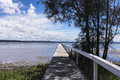 Lonely Pathway, Wooden Jetty Royalty Free Stock Photo - 83582795