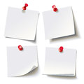 Different Sheets, Pinned Red Pushbutton, Ready For Your Message Royalty Free Stock Photos - 83592118