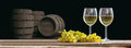 3d Rendering Glasses Of Wine On Dark Background Stock Photography - 83603802