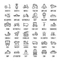 Set Of Transportation Icons In Modern Thin Line Style. Royalty Free Stock Photo - 83611995