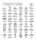 Set Of Transportation Icons In Modern Thin Line Style. Stock Image - 83612151