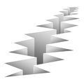 Crack Fault Line In Ground. Royalty Free Stock Photo - 83616765