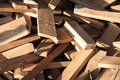 Pile Of Wood Logs For Build Furniture Production,sew Natural Wood Scraps Stock Photo - 83620560