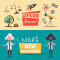 Crazy Old Scientist. Funny Character. Cartoon Vector Illustration Stock Image - 83621531