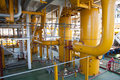 Oil Platform Pipeline And Pressure Transfer System Stock Photo - 83639760