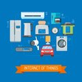 Internet Of Things Vector Concept Illustration In Flat Design Stock Photos - 83652553